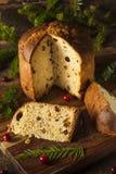 Selbst gemachter Panettone-Frucht-Kuchen lizenzfreie stockfotos