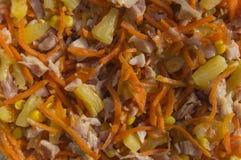 Selbst gemachter Salat des Hintergrundes vom Gemüse der Frucht und geraucht mir Stockbilder