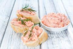 Selbst gemachter Salmon Salad stockfotografie