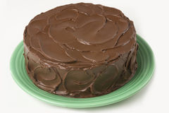 Selbst gemachter Schokoladen-Kuchen Stockfotografie