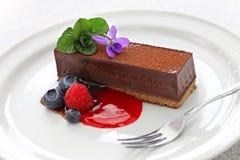 Selbst gemachter Schokoladenkuchen Stockfoto