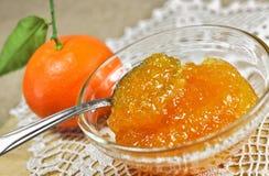 Selbst gemachter Tangerinestau oder -marmelade lizenzfreies stockbild
