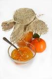 Selbst gemachter Tangerinestau oder -marmelade stockfoto