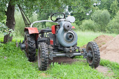 Selbst gemachter Traktor Lizenzfreie Stockbilder