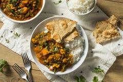 Selbst gemachter würziger Gemüse-Curry des strengen Vegetariers Lizenzfreies Stockbild