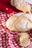 Selbst gemachtes Brot Stockbild