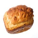 Selbst gemachtes Brot auf einem weißen Hintergrund Stockbild