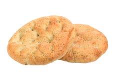 Selbst gemachtes Brot lokalisiert auf weißem Hintergrund Lizenzfreie Stockfotografie