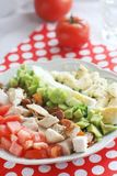 Selbst gemachtes cobb - Salat mit Eiern stockfotos