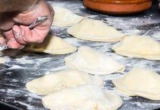 Selbst gemachtes Empanada mit Rindfleisch Lizenzfreies Stockfoto