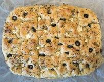 Selbst gemachtes Focaccia-Brot Stockbild