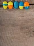 """Selbst gemachtes gemaltes Ostereier †""""Jahreszeithintergrund Stockfoto"""