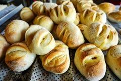Selbst gemachtes Käse-Brot für Verkauf in Santander, Kolumbien lizenzfreie stockfotografie