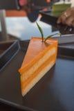 Selbst gemachtes Lebensmittel des Teekäsekuchens Lizenzfreie Stockfotografie