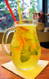 Selbst gemachtes Limonadencocktail tadellose orange Zitrone des Kalkes Lizenzfreies Stockbild