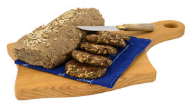 Selbst gemachtes paleo Brot und Kekse Stockbilder