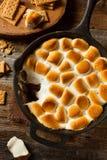Selbst gemachtes S'mores-Bad mit Graham Crackers lizenzfreies stockbild