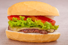 Selbst gemachtes Sandwich Lizenzfreie Stockbilder