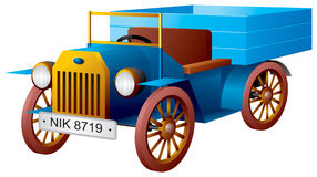 Selbst-, Retro- Auto, alter alter LKW Lizenzfreie Abbildung