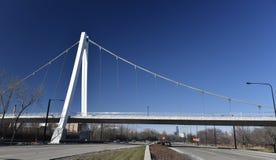 Selbst-verankerte Hängebrücke Stockfotos