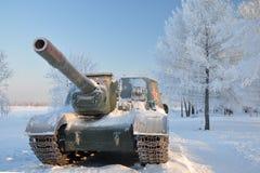 Selbstangetriebene Artillerie. Lizenzfreies Stockbild