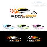 Selbstauto-Logo für Sportwagen, Miete, Wäsche oder Mechaniker stock abbildung