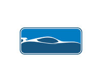 Selbstauto Logo Template Stockfoto
