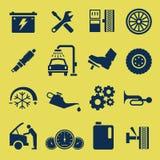 Selbstauto-Reparatur-Service-Ikonen-Symbol Lizenzfreie Stockbilder