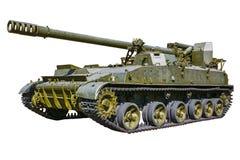 Selbstfahrende Artillerie auf einem weißen Hintergrund lizenzfreie stockbilder