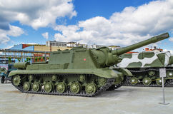 Selbstfahrende Artillerieinstallation ISU 152 Lizenzfreies Stockbild