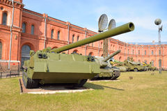 203 selbstfahrende Kanone 2S7 Millimeters Pfingstrose Lizenzfreie Stockfotos