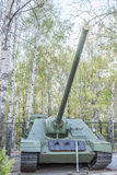 Selbstfahrende Probe der Artillerie SU-100 im Jahre 1944 Stockfotos