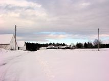 SelbstFriedhof im Winter Stockfotografie