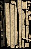 Selbsthaftendes Kreppband auf Schwarzem Stockfoto