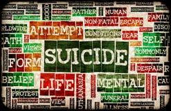 Selbstmord vektor abbildung