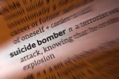 Selbstmordattentäter - Terroristenangriff lizenzfreie stockfotografie
