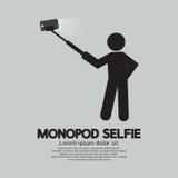 Selbstporträt-Werkzeug Monopod Selfie für Smartphone Stockfotos