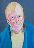Selbstportrait in den Schmierölen Lizenzfreies Stockbild