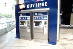 Selbstservice-Bahnfahrkartemaschine in Großbritannien Lizenzfreies Stockbild