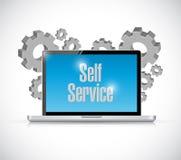Selbstservice-Computertechnologieillustration stock abbildung
