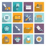 Selbstservice-Ikone flach Lizenzfreie Stockfotografie