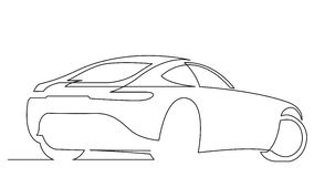 Selbstzeichnungslinie Animation des eleganten Konzeptsportwagens stock video