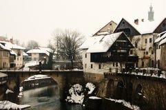 Selca Sora River - Skofja Loka - Slovenia. Selca Sora River in Skofja Loka - Slovenia Royalty Free Stock Photography