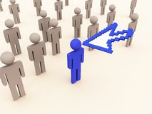 Selcting right person for job. Selection of right manpower for job 3d image Stock Images
