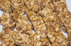 Selction της γλυκιάς ασιατικής κρίσιμης στιγμής φυστικιών σε έναν μπουφέ εστιατορίων Στοκ Φωτογραφίες