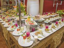 Selction των τροφίμων σαλάτας σε έναν μπουφέ εστιατορίων Στοκ φωτογραφία με δικαίωμα ελεύθερης χρήσης