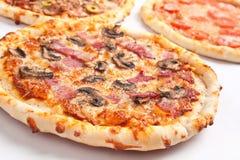 Selction av pizza Arkivfoto