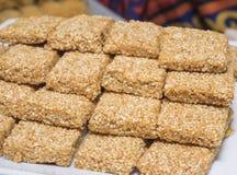 Selction delle pasticcerie orientali dolci ad un buffet del ristorante Fotografia Stock