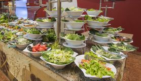 Selction of salad food at a restaurant buffet Royalty Free Stock Image