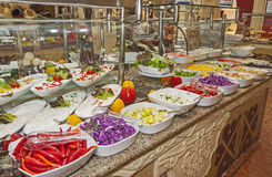 Selction of salads at a restaurant buffet Royalty Free Stock Image
